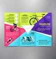 Brochure leaflet design tri-fold template vector image vector image