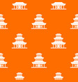 buddhist temple pattern seamless vector image vector image
