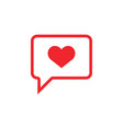 chat love icon design template isolated vector image vector image