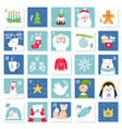 christmas and new year celebration symbols advent vector image vector image