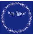 christmas circular frame with snow flakes vector image
