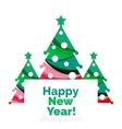 Christmas geometric banner 2017 New Year vector image
