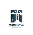 construction logo for business company simple vector image