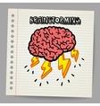 Doodle Brain Storm vector image vector image