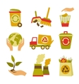 Ecology and Waste Icon Set vector image vector image