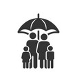 family life insurance icon image vector image