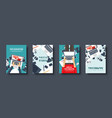 flat style covers set photographer equipment vector image