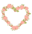 Floral heart shape wreath made of asters vector image