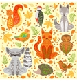 Forest Animals Covered In Crative Ornaments vector image vector image