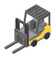 forklift icon isometric style vector image vector image