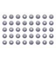 game button templates vector image vector image