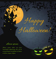 halloween festive dark poster vector image vector image