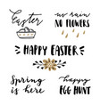 happy easter lettering set hand written quotes vector image vector image