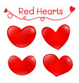 heart shaped pattern on white background vector image vector image