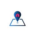 house and map point logo inspiration isolated on vector image vector image