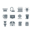 household services utility payment bill flat icons vector image vector image