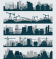 industrial skyline set vector image
