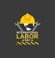 international labor day logo vector image vector image