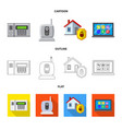 isolated object of office and house icon set of vector image vector image