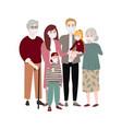 isolated people family coronavirus protection vector image
