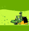 leprechaun and st patrick day vector image