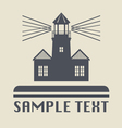 Lighthouse icon or sign vector image vector image