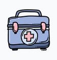 medical bag doodle color icon drawing sketch hand vector image vector image