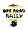 off road rally lettering vector image vector image