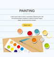 painting web banner paints brushes pencil vector image vector image
