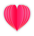 paper heart on white background vector image vector image