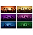 party human hands silhouette music festival or vector image vector image