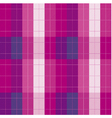 plaid fabric seamless pattern vector image vector image