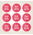 Red sale badge stickers set vector image vector image