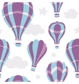 seamless pattern hot air balloons on sky vector image vector image