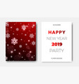 set of 2 happy new year night flyers banner with vector image