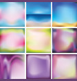 set of bright colored multi-colored backgrounds vector image vector image