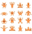 Set of flat moster icons7 vector image vector image