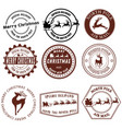 set santa claus signs collection stamps vector image
