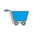 shopping cart concept market store online vector image