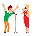 singing people character vector image