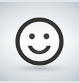 smiling emoticon square face icon avatar symbol vector image
