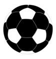 soccer ball black icon vector image vector image