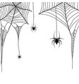 spider web and spiders on a white background vector image vector image