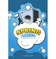 Spring cleaning service concept background vector image vector image