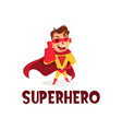 super hero thumb up mascot character logo icon vector image