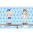 swimmer kids vector image