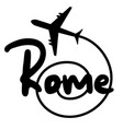 travel rome vector image