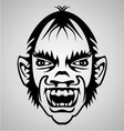 Vampire Face Tribal vector image vector image