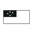 Western Samoa flag monochrome on white background vector image vector image