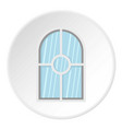 white arched window icon circle vector image vector image